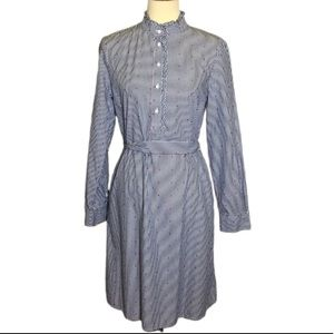 Brook Brothers Vintage Striped Shirt Dress Size 10